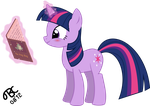 Twilight Sparkle blushes while reading by TBCroco