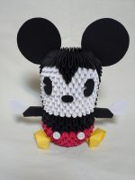 Giant Mickey Mouse 3-D Origami by pandanpandan