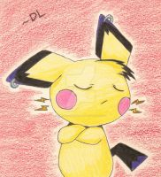 Sparky the Pichu by Dark-and-One-Other