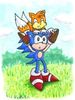 Sonic and Tails big brother little brother by kaikaku