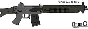 SIG SG 550 Assault Rifle by omegafactor90