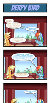 Pony 4 Koma - Derpy Bird by Reikomuffin