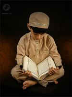 A kid Reading Quran by MBaqerstyle