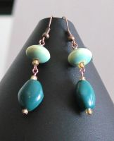 Green Earrings by Mommy-of-Monsters