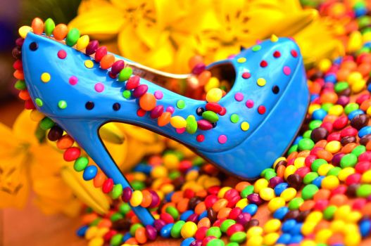 Blue Candy Shoes by PhotoBySavannah