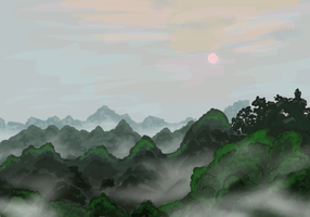 Forest at Dawn by MizterSiah