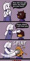 Toriel heals you by GIRakaCHEEZER