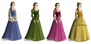 Belle (Beauty and the Beast) outfits by sarasarit