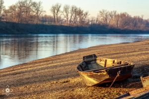 Boat by river by Limeniks