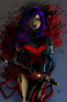 Psylocke  - X-Force Style - by 626Ghost