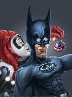 Batman and the Judas kiss by aladecuervo