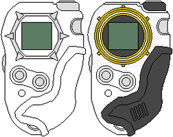 Digimon Frontier Digivice Bases by CWK34