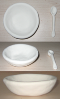 Bowl and Spoon by DiscoPotato