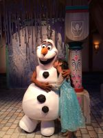 I kiss Olaf to stop him from melting with power by Magic-Kristina-KW