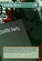 Yugioh! Orica: Death Note Magic Card by animereviewguy