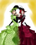 Ms.Green and Madam Red by clovercarmen5