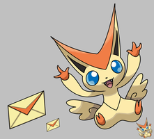 Squiby new Pokemon Victini by krokus00