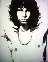 Jim Morrison Painting 18X24 In by RAMENmanga-ka