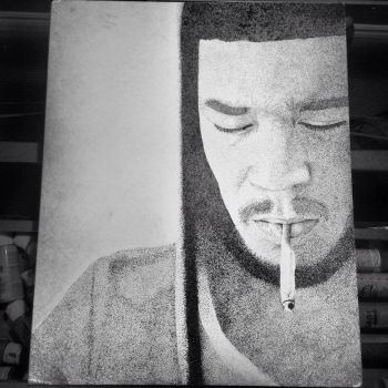 Kid cudi pointillism by Garysaggese