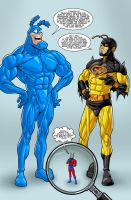 The Tick and Nightwasp by drawerofdrawings