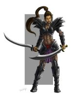 warrior woman by misledtomisery