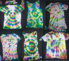 Tie Dye Shirts i Made by frozenjellounicorns