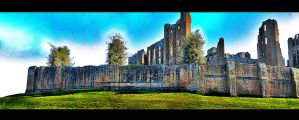 Kenilworth Castle Panorama HDR by AlanSmithers