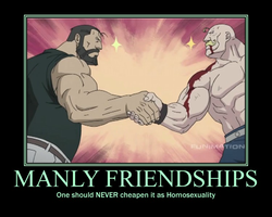Manly Friendships Motivational by Sephirath21000