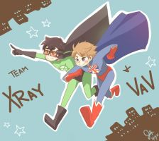 Xray and Vav by xxakikochanxx