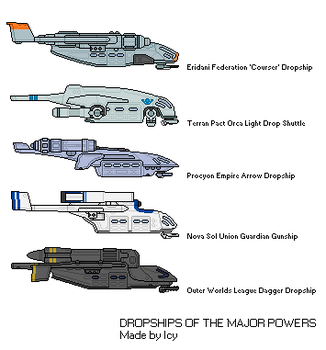 Dropships of the Major Powers by THEICYICY