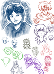 Sakurai and others sketches by DYW14