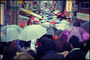 Japan - Umbrellas in Harajuku by NicoFX