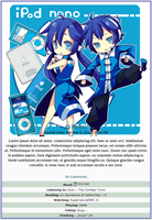 Blue iPod Nano Journal Skin by double-rainbow-chan