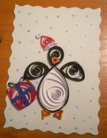 Quilled penguin card by YoyoTheMadScientist