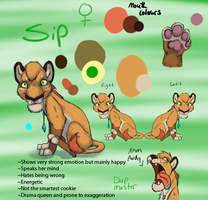 Sip Reference Sheet by Sipper-Paws