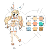 Patchwork Bunny Adoptable with Chibi! [OPEN] by KaidaFaye