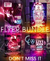 M-DANCE FLYER BUNDLE 4IN1 PSD by retinathemes