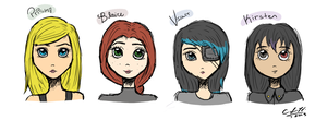 Look at these babes by moonkuu