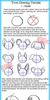 Toon Drawing Tutorial 1 - Heads by LightAnimaux