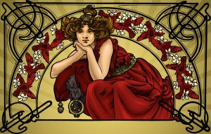My homage to Mucha by Illustrationdan