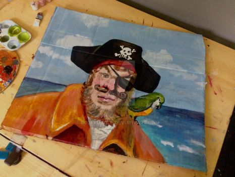 Painty The Pirate by Rosepuggle