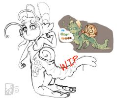 WIP: FelineSnail Anthro by Kinla