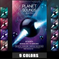 PLANET SOUNDS FLYER TEMPLATE by MCerickson