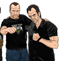 GTA V: Actor Ned Luke and Steven Ogg by TinaPanther