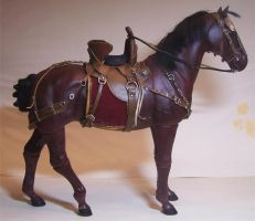 Saddle for a Medieval Warhorse by cbgorby