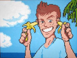 Mike Jones Goes Bananas! by Squarepainter
