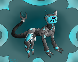 Robocat (Offer to Adopt, CLOSED) by CannibalHarpy