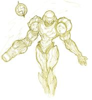 Quickie Samus by silverlimit