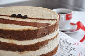 Food/ coffee nuts cake by TigerQG