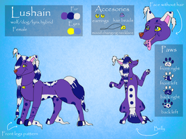 CM: Lushain Refference sheet by ela-moon
